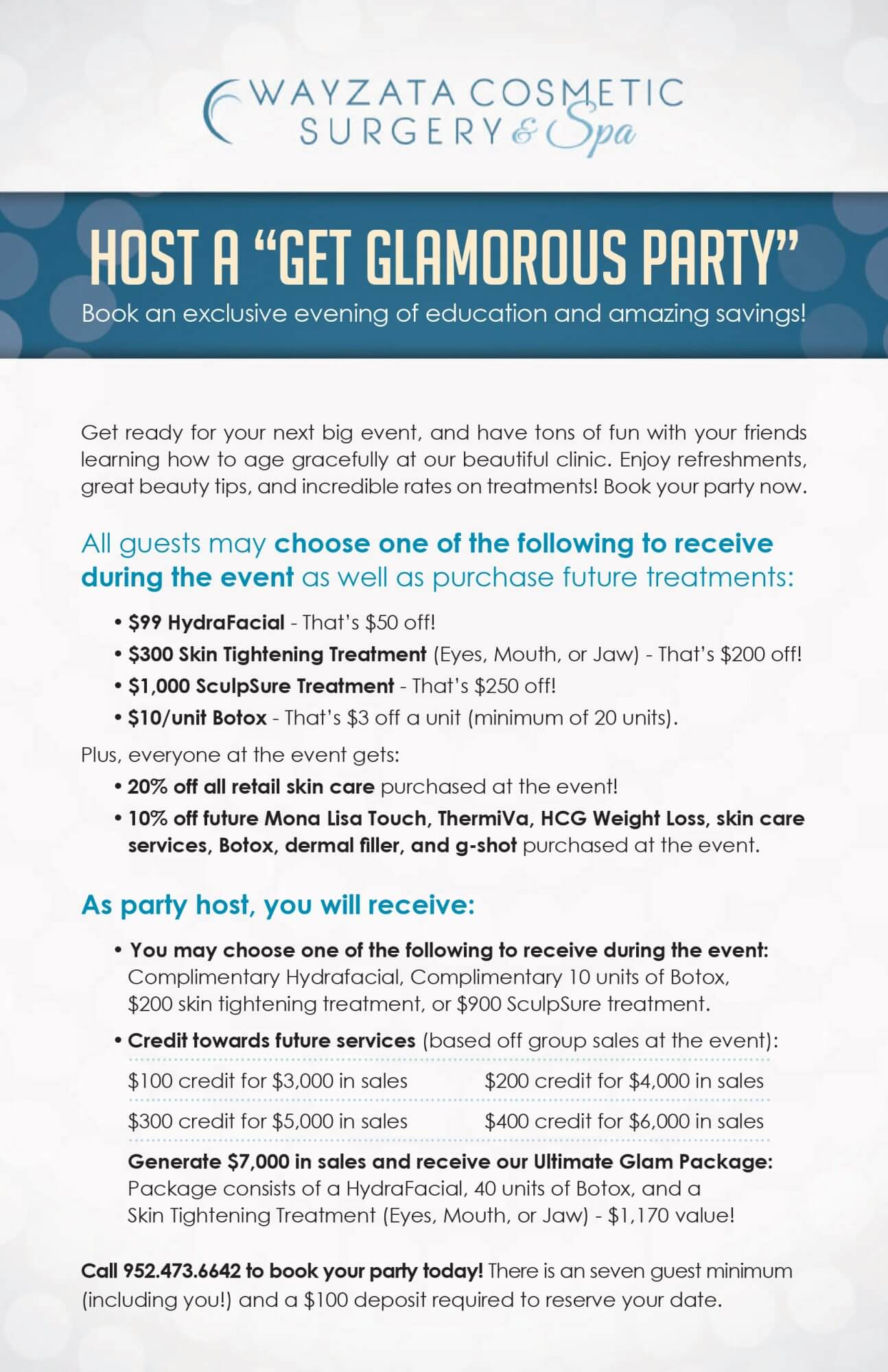 """, Host a """"Get Glamorous Party"""""""